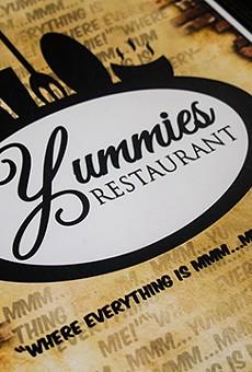 Yummies' menu.