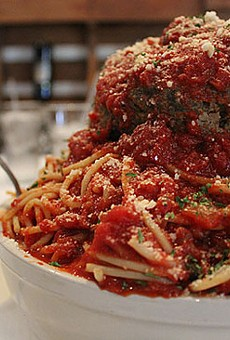 Mama's Pasta Challenge with meatball   Zach Garrison