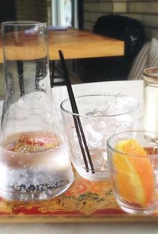 Olio's beautiful vermouth service.   Patrick J. Hurley