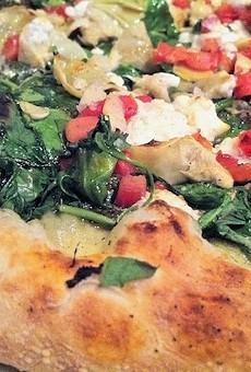 Peel's chevre pizza.