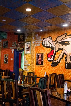 The dining area, complete with its namesake mascot.