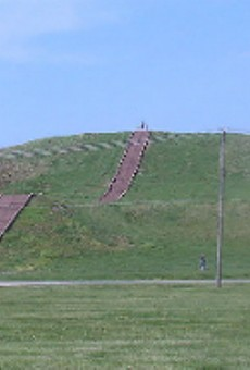 Monks Mound, presumably built under the influence of black drink.