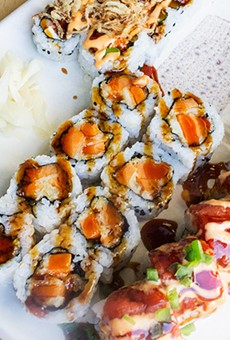 Assorted sushi during happy hour. | Photos by Mabel Suen