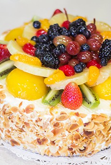 La Bonne Bouchee's strawberry-mousseline cake. | Photos by Mabel Suen