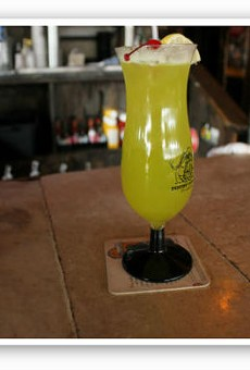 """The """"Horny Gator"""": a summery drink to chase away the cold.   Zach Garrison"""
