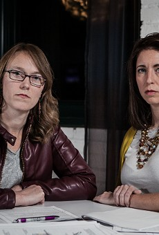 Rebecca (left) and Angela are two of the women threatened by Robert Merkle.