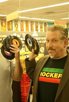 """Lew Prince (left) and Tom """"Papa"""" Ray at Vintage Vinyl."""