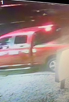 A Popeyes customer in this truck opened fire on the restaurant, police say.