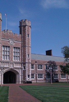 An ex-business director embezzled $300,000 from Washington University, authorities say.