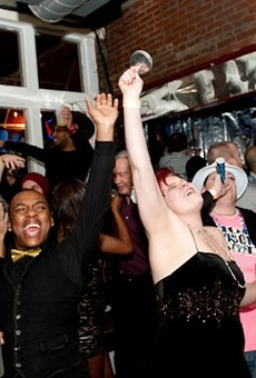 Revelers ring in the New Year at Novak's.