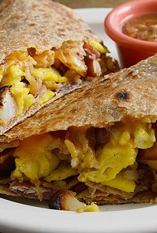 A breakfast burrito at Kitchen House Coffee's new Patch location: One of this month's bright spots.