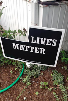 Vandals have repeatedly targeted Sue Dersch's signs.
