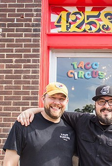 Christian Ethridge (l) with fellow Taco Circus Chef Peter Clark