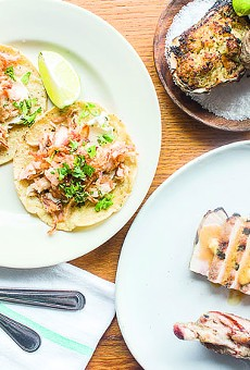 An array of dishes at this year's best new restaurant, Público.