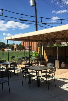 A courtyard at Edible Essentials will seat 30 patrons.