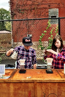 Rachael Burchett (right) with Anthony Burchett, two-fourths of Silo Coffee + Goods.