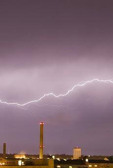 Lightning over the Mizzou campus