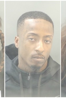 From L: Mekayla Thomas, Dujuan Sumpter and Shay Bowers face felony charges.