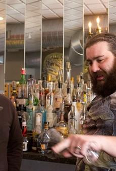Tony Saputo (right) swaps tips from Jeffrey Moll.