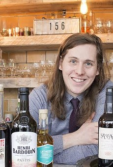 Olio's bar manager, Luc Michalski.
