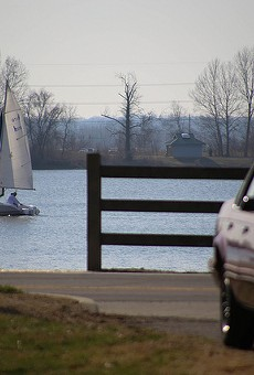 The area Stan Kroenke is seeking to develop is bounded by Creve Coeur Lake, shown above.