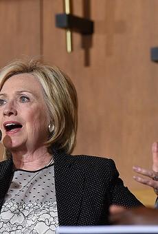 Hillary Clinton speaks in Florissant in June 2015