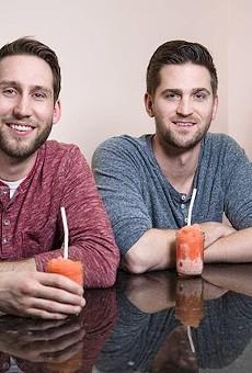 Brad Merten (left) and Brandon Holzhueter have slushies on their minds.