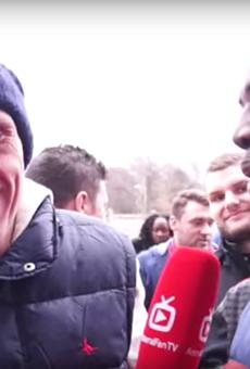 This British football fan? Not a fan.
