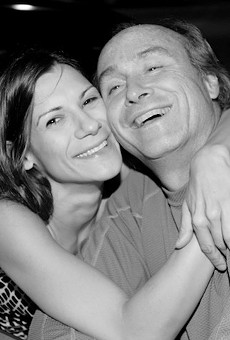 Giovanna and Bob Cassilly on their first wedding anniversary.