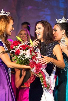 Erin O'Flaherty (center) was crowned Miss Missouri on June 18.