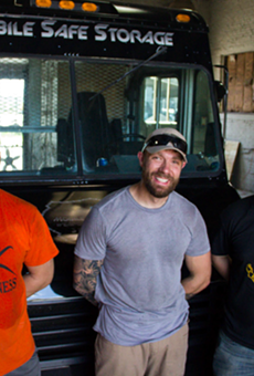 The Weapon Safe Armory team, from left: Rodney Sebaugh, founder Justin Hulsey and Isaac Porch.