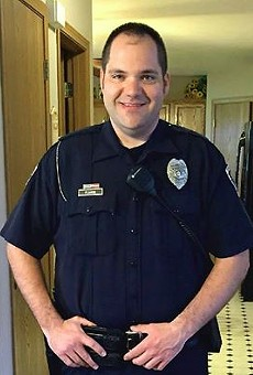 Ballwin Police Office Mike Flamion was shot in the neck on Friday during a traffic stop, police say.