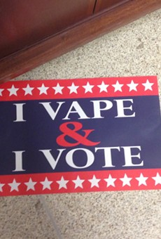 Vapors are campaigning against a proposed change in St. Louis County law to raise the buying age to 21.