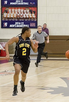 A 2015 match between the Harris-Stowe women's basketball team and Lyon College.