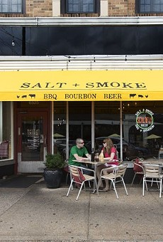A popular dining spot on the Delmar Loop, Salt + Smoke was the scene of a protest Sunday night.