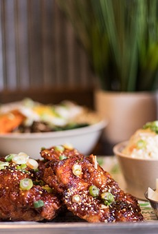 Kimchi Guys' highlights include Korean fried chicken, bibimbap and soju.