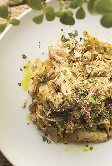 Dishes like tagliatelle topped with king crab made Olive + Oak this year's best new restaurant.