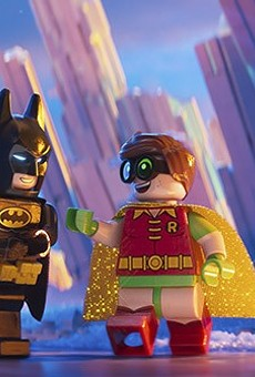 Batman (voice of Will Arnett) is a Lego dude on a mission.
