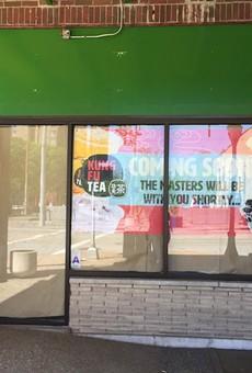 Kung Fu Tea is at work at 6600 Delmar.