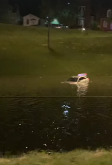 Astonishing Video Shows How I-55 Became a River Last Night in South St. Louis