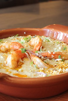Prime 55's shrimp and grits.