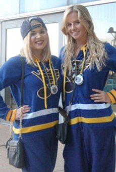 Blues fans everywhere are wearing the official outfit of summer.