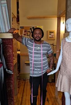 Brandin Vaughn in his Cherokee storefront.