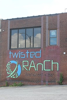 Twisted Ranch's sign faces South Seventh Street.
