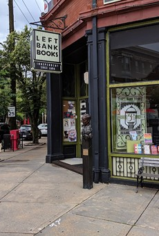 Left Bank Books, located between McPherson and Euclid avenues.