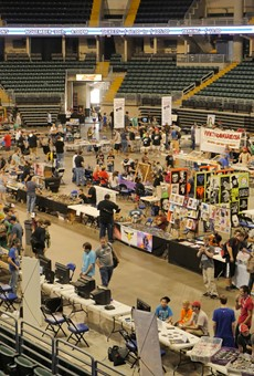 Fans of old-school video games hunt for treasures at last year's Mo Game Con.