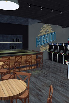 A rendering of the arcade and bar at Mission Taco Joint in Kirkwood, set to debut in early 2020.