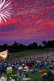 Tonight's free concert will even end in fireworks.