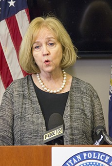 St. Louis Mayor Lyda Krewson delivered a press conference on the protests and police response on September 15, 2017.