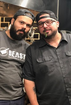 Ryan McDonald (pictured left) and Bob Brazell are teaming up for the collaboration dinner this Friday.
